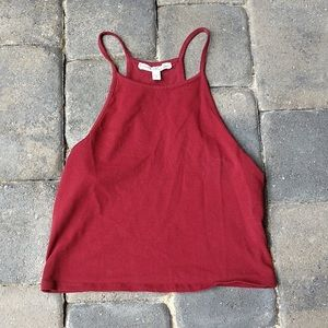 Express One Eleven Red Rust Crop Top Tank